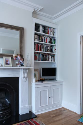 Fitted bookcase acton