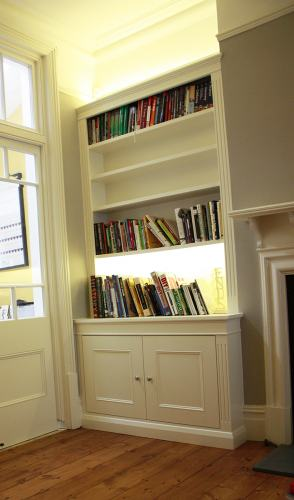Alcove shelving with light
