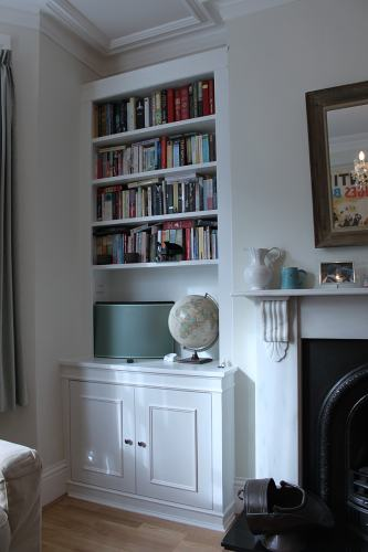Fitted bookcase w3