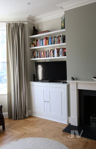 tv alcove unit in living room