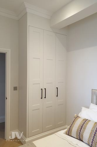 built-in-wardrobe around beam