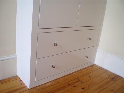 Fitted wardrobe with drawers, Chiswick, West London