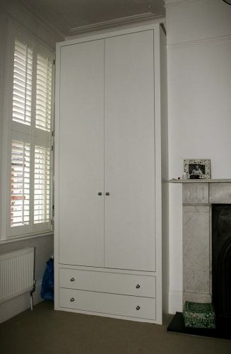 plain door wardrobe with drawers