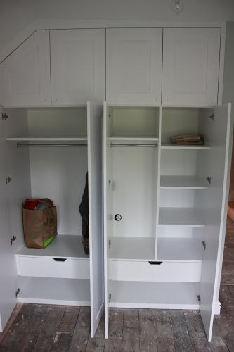 interior of the fitted wardrobe