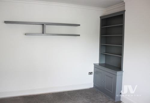 Alcove bookcase odd colour LHS
