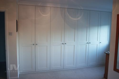 Fitted wardrobe with 7 doors