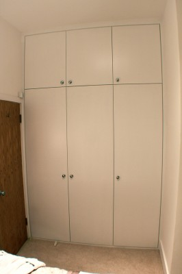 Flush door fitted wardrobe, West Hampstead