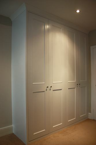 Four shaker with beading doors wardrobe