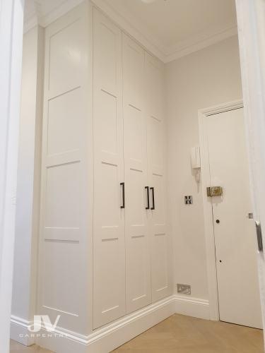 hallway fitted wardrobe