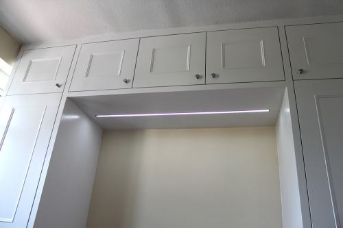 LED light in top cupboards