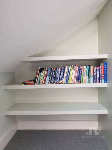 loft floating shelves