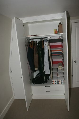 loft sloping wardrobe