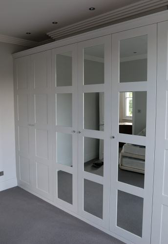 4 panel mirrored doors wardrobe