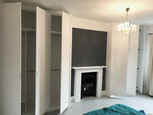 Flat doors fitted wardrobes