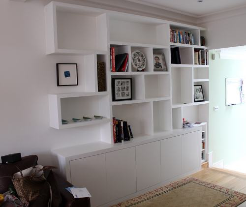 plain bookcase