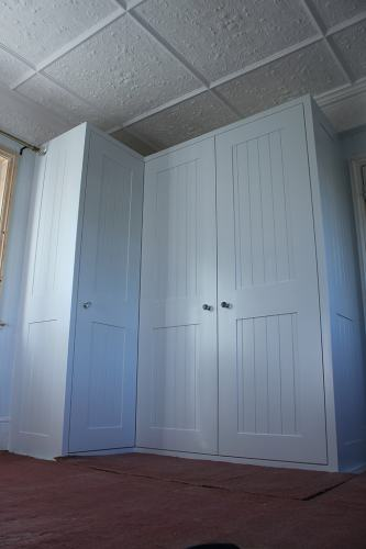 tongue and groove shaker wardrobe