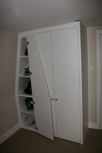 sloping side wardrobe