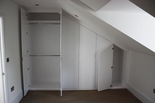 sloping wardrobe