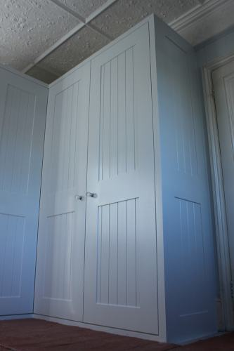 tongue and groove wardrobe