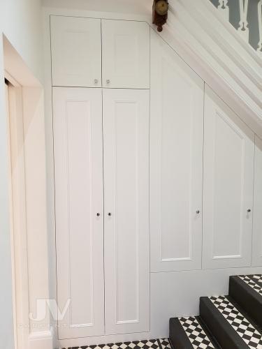 wardrobe under the stairs
