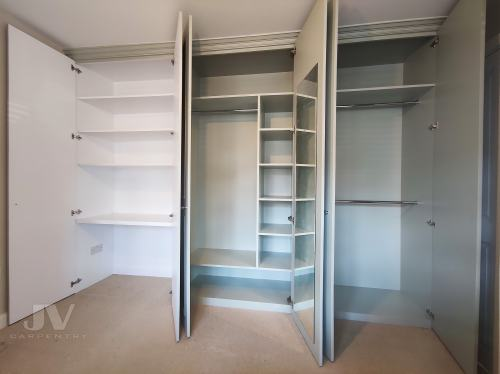 wardrobe with dressing table inside