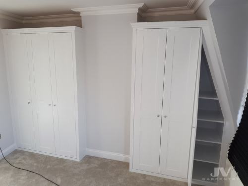 built in wardrobes with sloping wall