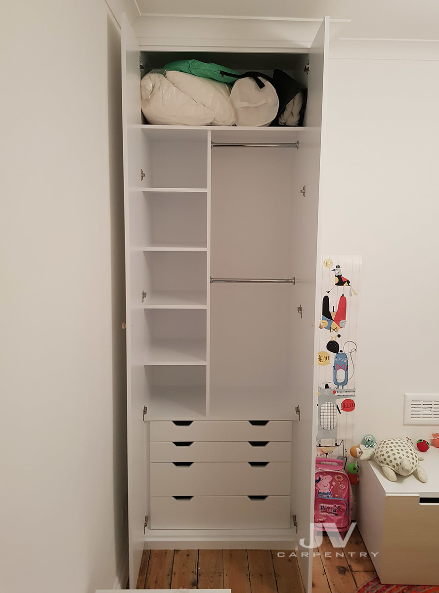 ... Idea How To Maximise The Space By Adding Shelving And Hanging Space,  Drawers, Shoe Racks, Pull Out Shelves And Even Lights Inside Your Fitted  Wardrobes.